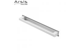 Barre d'appui amovible 662 mm, blanc & anodisé