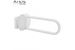 ARSIS hinged bar, 600 x 109 x 182 mm, White Epoxy-coated Aluminium, tube 38 x 25 mm