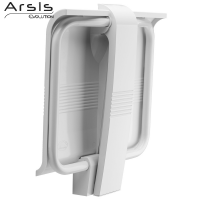 ARSIS shower seat, 442 x 450 x 500 mm, White ABS seat and white epoxy-coated base, Ø 25 mm