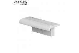 ARSIS shower shelf with wall-mounted support, 97 x 230 x 78 mm, White ABS