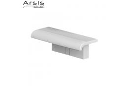 Tavoletta per doccia ARSIS con supporto murale, 97 x 230 x 78 mm, ABS, Bianco