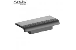 Tavoletta per doccia ARSIS con supporto murale, 97 x 230 x 78 mm, , ABS , Grigio antracite