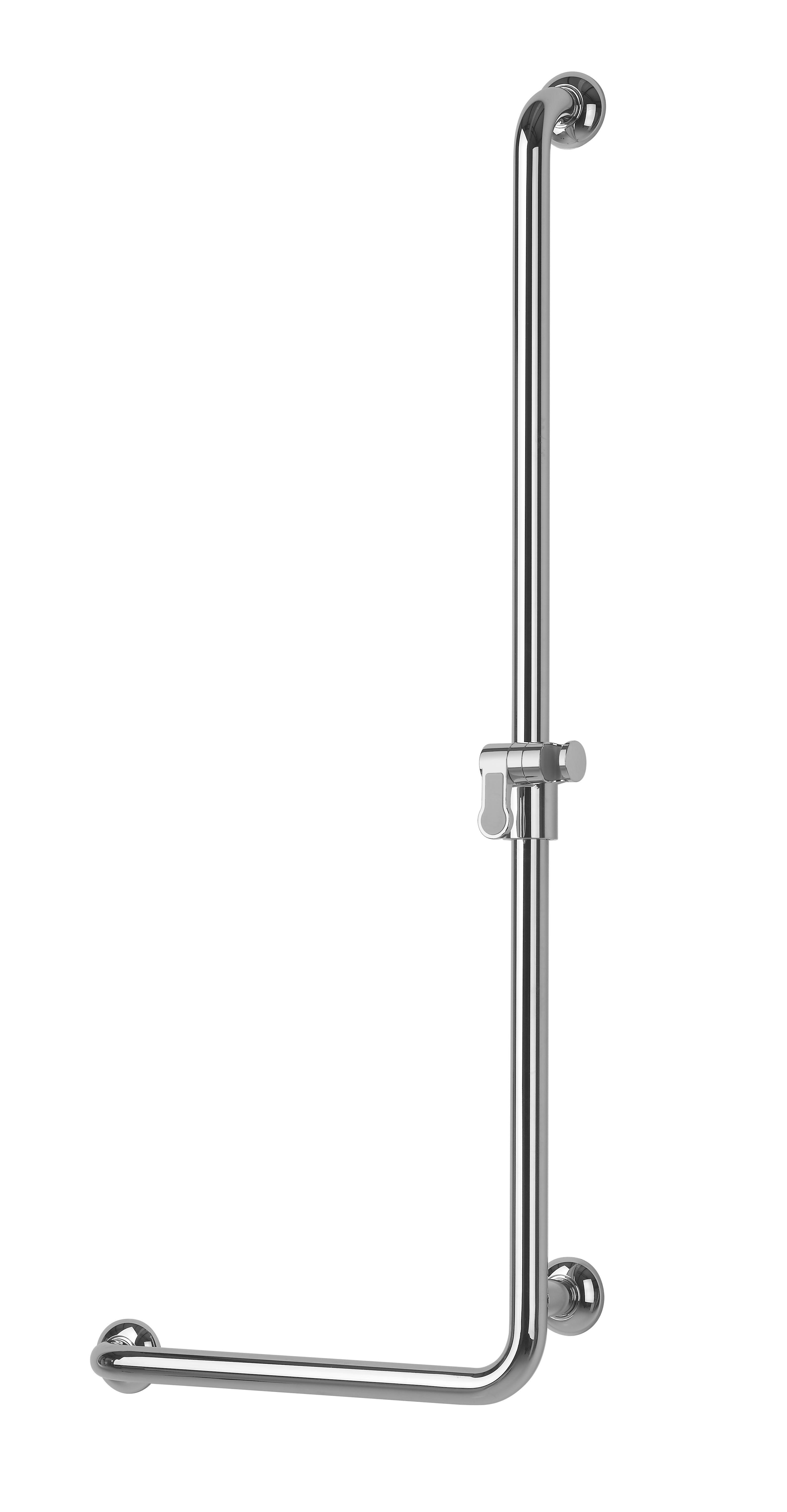 barre de douche en l droite laiton chrom 32 mm. Black Bedroom Furniture Sets. Home Design Ideas
