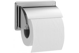 Toilet roll holder, 152 x 96 mm, Chrome and nickel-plated Brass