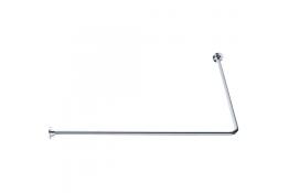 ECO - Porte-rideaux d'angle 90°, 800 x 800 mm, Laiton Chromé