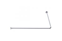 ECO - Porte-rideaux d'angle 90°, 1000 x 1000 mm, Laiton Chromé