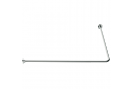 90° angled curtain rail, 800 x 800 mm, White Epoxy-coated Steel, tube Ø 16 mm