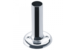 Flange for curtain rails, 85 mm, Chrome and nickel-plated Brass, Ø 58 mm, per piece