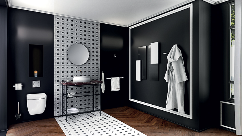 accessoires sanitaires - Ustensile Salle De Bain Inox