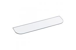 Glazen steun voor plaat, 500 x 118 mm, Veiligheidsglas, Kleurloos