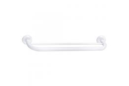 Portasalvietta doppio, 590 mm, Tubo Ø 25 mm, Acciaio Epossidico, Bianco