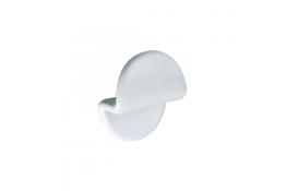 Appendiabito 1 pomello, 45 x 75 x 90 mm, ABS , , Bianco
