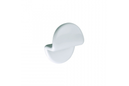 Single robe hook, 45 x 75 x 90 mm, White ABS