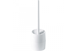Toilet brush & holder, White ABS