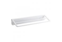 Portasalvietta doppio, 145 x 550 x 84 mm, Alluminio Epossidico, Bianco