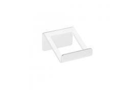 Appendiabito 1 pomello, 72 x 70 x 40 mm, Alluminio Epossidico, Bianco