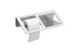 TRINIUM - Dispensador Papel WC & anaquel, Gris Mate