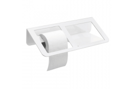 TRINIUM - Dispensador Papel WC & anaquel, Blanco