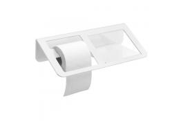TRINIUM - Distributeur papier WC avec tablette, Blanc