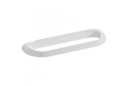 Portasalvietta singolo, 100 x 360 x 30 mm, Resinatermoindurente, Bianco