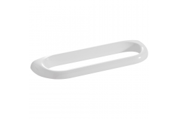 Portasalvietta singolo, 100 x 600 x 30 mm, Resinatermoindurente, Bianco
