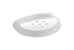 Soap holder, 120 x 160 x 30 mm, White Thermoset resin