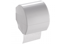 Toilet roll holder, 143 x 143 x 143 mm, White Thermoset resin