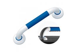 ERGOSOFT straight grab bar, 600 mm, White & Blue Polyalu, tube Ø 33 mm