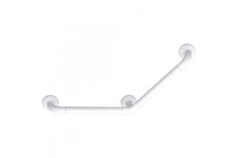135° angled grab bar, White Polyalu, tube Ø 33 mm