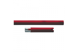 Straight section, 160 mm, Red Polyalu, tube Ø 33 mm