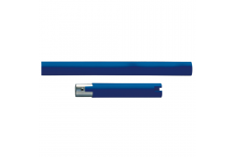 Straight section, 160 mm, Blue Polyalu, tube Ø 33 mm