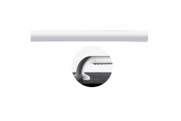 ERGOSOFT straight section, 160 mm, White & Taupe Polyalu, tube Ø 33 mm