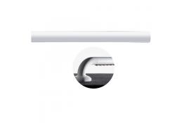 Rechte lange stang Ergosoft, 160 mm, Polyaluminium, Wit, Ø 33 mm