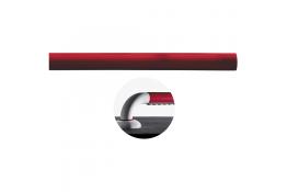 Rechte onderdeel, 160 mm, Polyaluminium, Rood, Ø 33 mm