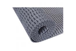 Shower mat, 590 x 580 x 9 mm, Grey Polyethylene