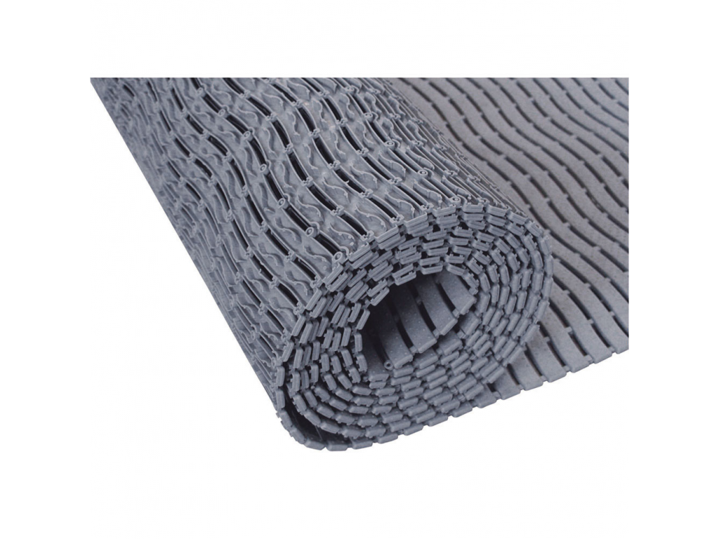 Shower mat per roll, Grey Polyethylene