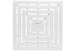 Pedana, 500 x 500 x 25 mm, , Plastica , Bianco
