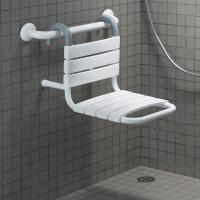Siège de douche à suspendre, Blanc