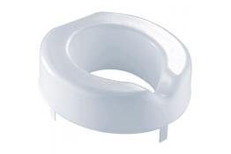 Raised toilet seat for standard wc bowls, 400 x 380 x 120 mm, White Polyethylene