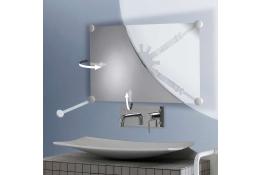 Supporto per specchio, orientabile., 332 x 934 mm, , Resina sintetica , Bianco