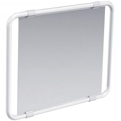 Specchio reclinabile 190 x 742 x 561 mm alluminio epossidico bianco - Alluminio lucidato a specchio ...