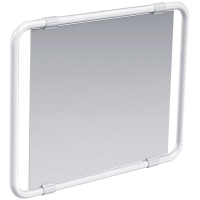 Draaibare spiegel, Wit Epoxy Aluminium