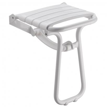 White foldaway shower seat
