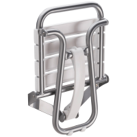 White and chrome grey foldaway shower seat