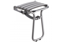 Grey and chrome grey foldaway shower seat