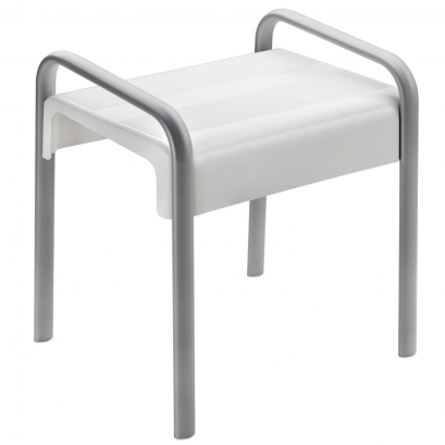 ARSIS shower stool, White and Mat grey