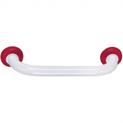 Barre droite 400 mm, Aluminium Epoxy Blanc & Rouge
