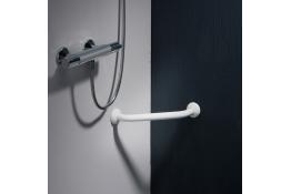 Barre d'angle 2 murs, Aluminium Epoxy Blanc