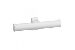 Toilet roll holder, 265 x 69 x 67,5 mm, White Epoxy-coated Aluminium , tube 38 x 25 mm