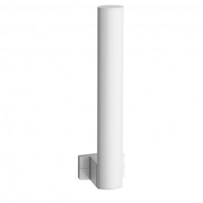 Toilet paper reserve, 265 x 69 x 67,5 mm, White Epoxy-coated Aluminium , tube 38 x 25 mm